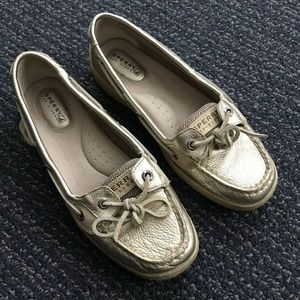 SPERRY Topsider Gold Metallic Loafers 6.5